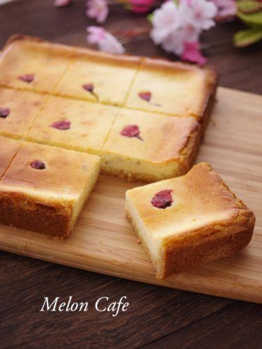 簡単&本格味♪桜のチーズケーキ☆ホットケーキミックスで作る、春の手作りお菓子