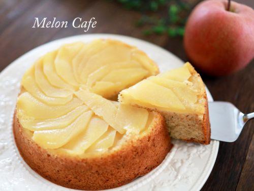 ホットケーキミックスで簡単!りんごと紅茶のアップルティーケーキ☆タルトタタン風♪