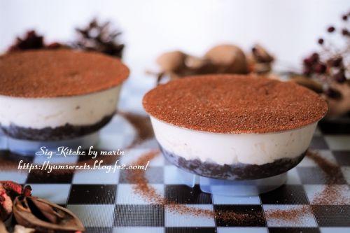 簡単ティラミス風レアチーズケーキ【レシピ】