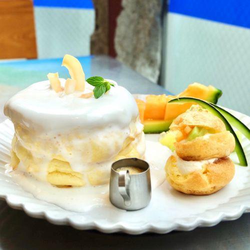 ★原宿★RAINBOW PANCAKE ⑲  -2種のメロンとココナッツの爽やかワンプレート-