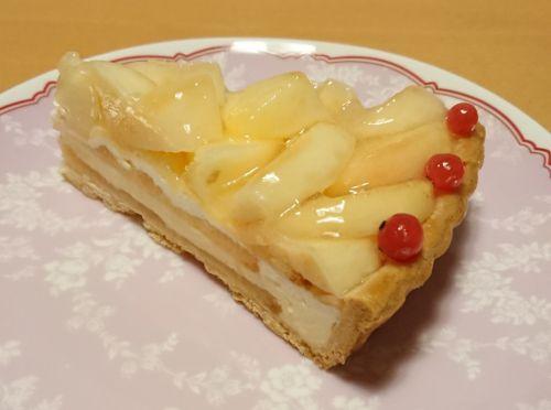 【PEACH GARDEN②】桃とホワイトチョコムースのタルト@キルフェボン
