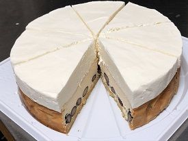 バタークッキー・黒豆・ベイクド&レアチーズケーキの4層構造【低糖質】黒豆ダブルチーズケーキ