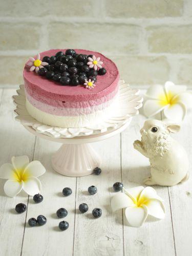 * ブルーベリーのヨーグルトムースケーキ♪