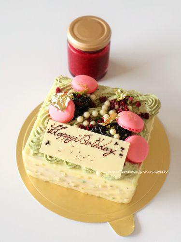 ホワイトチョコとラズベリーケーキ♡コントワール頒布会2020年8月