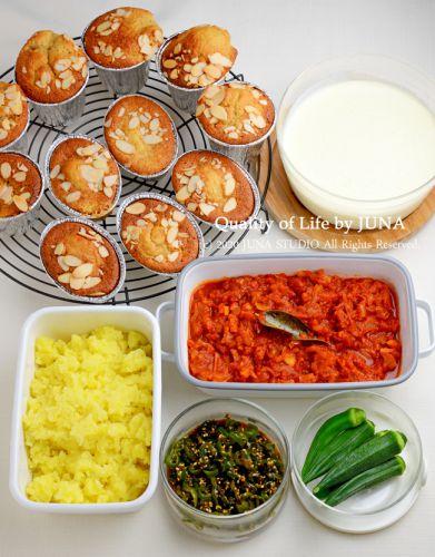 今週末の作りおき ~レンジで作るホワイトソース(超濃厚バージョンw)とかカップケーキとか~